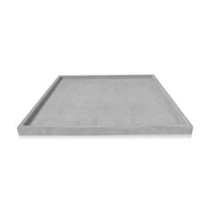 CALM  Colour  Light Grey Finish  Suede Size  Large Height 20mm Width 450mm Depth 450mm