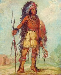Native American George Catlin A-wun-ne-wa-be, Bird of Thunder by griffinlb, via Flickr