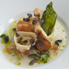 Vegetarian dish from our Dinner Menu. Frederick's Restaurant, Langrish House nr Petersfield, Hampshire