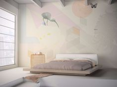 Motif washable vinyl wallpaper TOUCH Senses Collection by GLAMORA