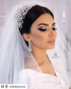 Videomuzu gacirmayin dostlar ❤️ _________________ Don't miss our video my ., Videomuzu gacirmayin dostlar ❤️ _________________ Don't miss our video my . Videomuzu gacirmayin dostlar ❤️ _________________ Don't miss. Fresh Wedding Makeup, Wedding Hair And Makeup, Bridal Hair, Dramatic Bridal Makeup, Bridal Make Up, Wedding Make Up, Wedding Bride, Prom Makeup, Hair Makeup
