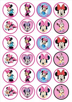 From Minnie Mouse Edible Premium Thickness Sweetened Vanillawafer Rice Paper Cupcake Toppers/decorations Minnie Mouse Cake Topper, Minnie Y Mickey Mouse, Pink Minnie, Decoration Minnie, Cupcake Decorations, Edible Cupcake Toppers, Edible Cake, Minnie Birthday, Birthday Cupcakes