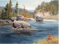 Compare the photo reference and final works of Johannes Vloothuis to learn how to make the most of your plein air painting.