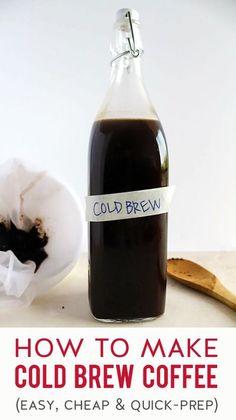 Diy Cold Brew Coffee, Cold Brew Coffee Recipe, Coffee Drink Recipes, Coffee Drinks, Coffee Coffee, Strong Coffee Recipe, Iced Coffee At Home, Coffee Truck, Coffee Signs