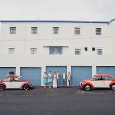Wedding love bug cars ❤️ #jelphotography #aucklandphotographer alternative wedding photographer