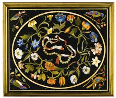 AN ITALIAN PIETRE DURE RECTANGULAR PLAQUE FROM THE FLORENTINE GRAND DUCAL WORKSHOPS, 17TH CENTURY