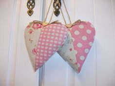 Little padded hanging hearts i make x