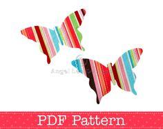 Butterfly Applique Template, DIY, Children, PDF Pattern by Angel Lea Designs. $2.30, via Etsy.