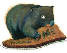 Meet Mothball the wombat. Australian Animals, Australian Art, Classroom Displays, Wombat, Illustrators, Bear, Book Illustrations, Cartoon, Literacy