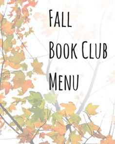 Fall Book Club Menu