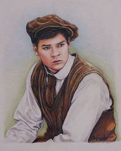 This is a print of another photorealistic drawing I made of Jonathan Crombie as Gilbert Blythe from the 1985 TV miniseries Anne of Green Gables.