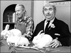Captain Kangaroo (right) and Mr. Greenjeans!