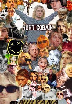 pinterest my Kurt Cobain /Nirvana edit posts | Kurt Cobain Collage