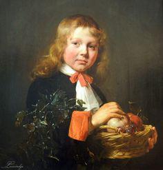 Jan de Bray  Portrait of a Boy holding a Basket of Fruit  1658  Jan de Bray, Dutch, 1627–1697  Oil on panel