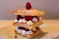 Kericocom: Milhojas de frambuesa y crema Chantilly