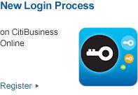 New Login Process on CitiBusiness Online