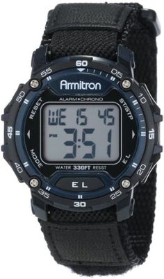 Armitron Sport Unisex 408291BLU Black Velcro Strap Blue Bezel Round Digital Chronograph Watch >>> Please continue read.(This is an Amazon affiliate link and I receive a commission for the sales)