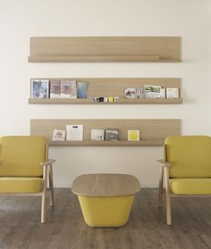Lasai armchairs and coffee table in Olatu Leku, technological center dedicated to the boardsport industry