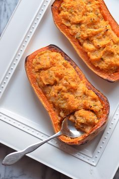 Twice-Baked Butternut Squash with Ricotta and Sage by coffeeandquinoa #Butternut_Squash #Ricotta #Sage