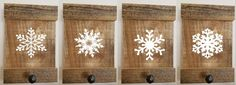 5 1/2 x 8 Reclaimed Wood Christmas Wall Stocking Holder