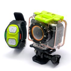 "Full HD Sports Action Camera ""Helix"" (1080p Video, Wi-Fi, Wrist Strap Remote, Wide Angle Lens)"