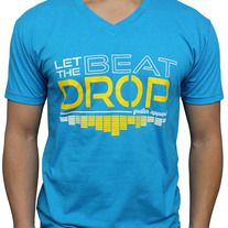 Brand New Greater Apparel Music Inspired Let the Beat Drop Graphic Crew-Neck T-Shirt  Electronic Dance Music never stops. The perfect fit for parties, raves and clubs. Music inspired design based on heavy beats and tunes. Get ready to let the beat drop!   Slim & Fitted