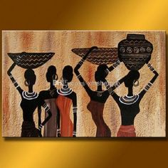 African paintings on canvas abstract women oil painting african oil paintings canvas Arte Tribal, Tribal Art, Art Pulp, Art Afro, Africa Painting, African Art Paintings, African Artwork, Oil Paintings, Afrique Art