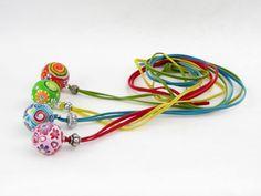 Ketten lang - Blühender Planet Polymer Clay Designer Kette fimo - ein Designerstück von filigran-Design bei DaWanda