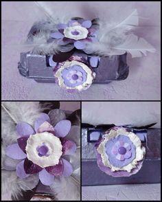"""Boîte à joies """"2"""" réalisée avec les fleurs poulette d'Azoline ( cours en ligne sur le site 2 Mains pour Créer )"""
