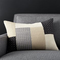 """Ethan 22""""x15"""" Pillow with Feather-Down Insert   Crate and Barrel"""