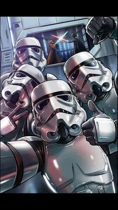 Stormtrooper: I think this looks awesome! Let's take a selfie! Other stormtroopers: Ok! Actually this might be the last time that they see a lightsaber duel and they're still alive whoops