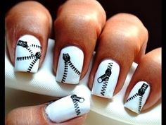 Zip Nail Art Designs Polish How To Use Cute Nails Decals Tutorial Video For