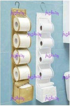 Resultado de imagen para manualidades con toallas Toilet Paper Crafts, Paper Roll Crafts, Recycled Crafts, Diy And Crafts, Crochet Crafts, Sewing Crafts, Crochet Dish Towels, Toilet Paper Roll Holder, Bathroom Crafts