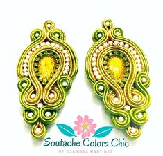 Shibori, Soutache Earrings, Earrings Handmade, Bridal Jewelry, Jewelry Design, Detail, Instagram, Crochet, Ear Rings