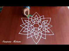 it's Easy and Simple. Indian Rangoli Designs, Small Rangoli Design, Rangoli Designs Images, Rangoli Designs With Dots, Rangoli With Dots, Beautiful Rangoli Designs, Simple Rangoli, Padi Kolam, Kolam Rangoli