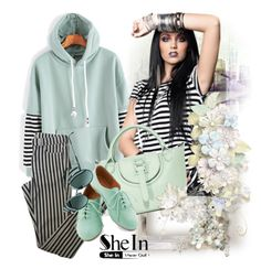 """Shein sweatshirt"" by irinavsl ❤ liked on Polyvore featuring Meli Melo, Topshop and Fendi"