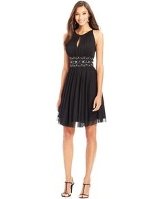 Jessica Howard Sleeveless Keyhole Embellished Dress - need this in ivory!
