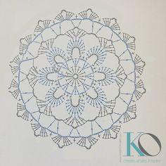 Captivating All About Crochet Ideas. Awe Inspiring All About Crochet Ideas. Crochet Mandala Pattern, Crochet Circles, Crochet Diagram, Doily Patterns, Afghan Crochet Patterns, Crochet Chart, Crochet Stitches, Stitch Patterns, Knitting Patterns