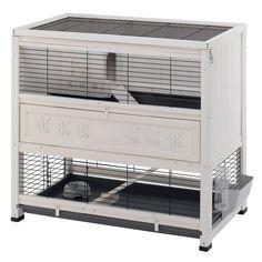 Grande cage à lapin - Cage déco pour lapins