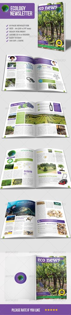 Eco Newsletter - Newsletters Print Templates Download here : https://graphicriver.net/item/eco-newsletter/5831990?s_rank=318&ref=Al-fatih