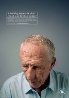 The British Skin Foundation has been working with healthcare agency Langland on their new 'Holiday Souvenir' campaign, which aims to inform people about the potential threat of developing squamous cell carcinoma (SCC) - the second most common form of skin cancer in the UK.   #cancer #skincancer #tenerife #corfu #sardinia