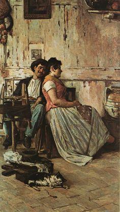 Luigi Serena Pittore Veneto dell'ottocento...