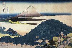hokusai fuji from the cushion pine tree at aoyama