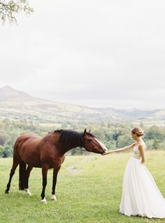 A bride and her horse…