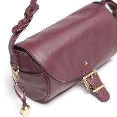 Leather Barrel Bag – Merlot