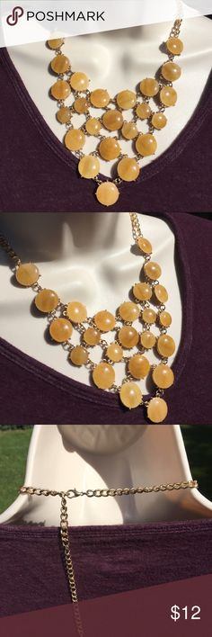 "Great color for fall statement necklace No brand  great condition  18"" with 3"" extender Jewelry Necklaces"