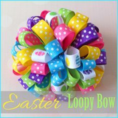 Learn how to make this fun Easter loopy hair-bow on the blog where Danielle shares her easy instructions!