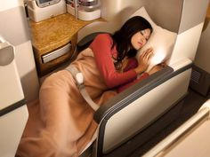 Every Business Class seat on the Emirates A380 converts into a flat bed at the touch of a button