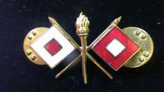 Vintage Army Military Signal Corps Pin DV5
