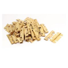 Unique Bargains Furniture Drawer Metal (Grey) Rotatable Butt Hinges Gold Tone 2.7 Length 50PCS